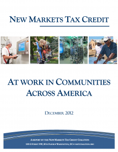 2012 New Markets Tax Credit Coalition Report