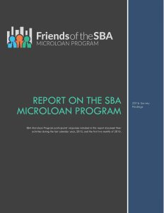 Read the 2016 SBA Microloan Program Report
